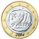 Grece 1 euro  2004 sans lettre