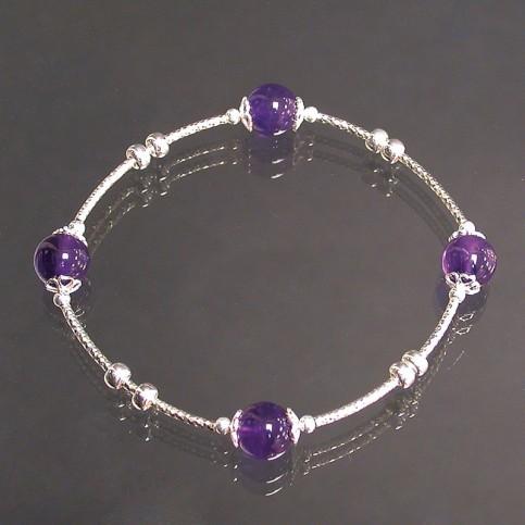 Améthyste - Bracelet en argent