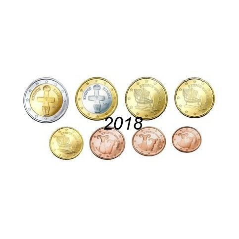 Chypre 2018 - série complète euro neuve