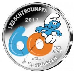 Belgique 2018 - 5 euro argent Schtroumpfs en couleur
