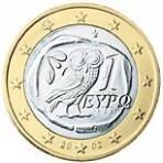 Grece 1 euro  2002 sans lettre