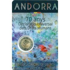 Andorre 2018 - 2 euro commémorative Droits de l'Homme