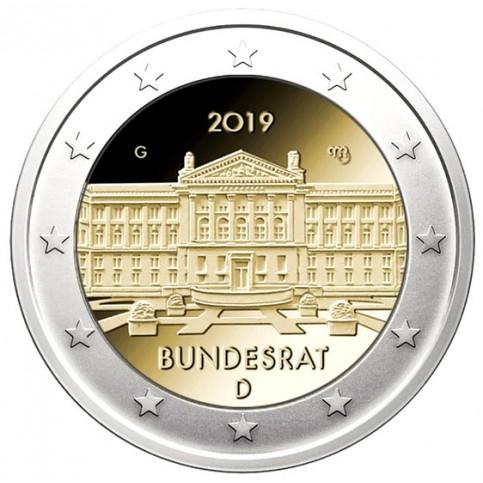 Allemagne 2019 - 2 euro commémorative Bundesrat