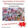 200 timbres authentiques du Monde Entier