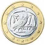 Grece 1 euro  2002 avec lettre