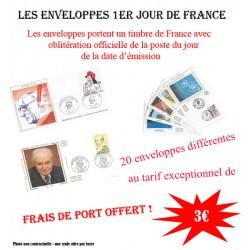 Enveloppes 1er jour de France