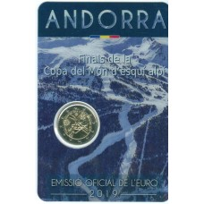 Andorre 2019 - 2 euro commémorative Ski Alpin