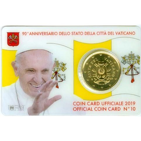 Vatican 2019 : Coincard euro Pape François