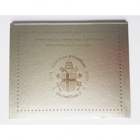 Vatican 2003 - Coffret euro BU Jean Paul II