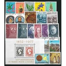 Luxembourg - Année complète 1977