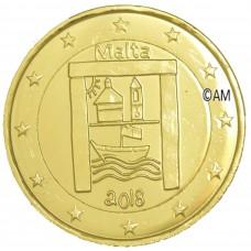 Malte 2018 - 2 euro commémorative Patrimoine dorée à l'or fin 24 carats