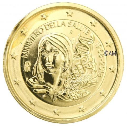 Italie 2018 - 2 euro commémorative dorée à l'or fin 24 carats