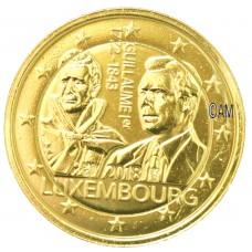 Luxembourg 2018 - 2 euro commémorative Guillaume 1er dorée à l'or fin 24 carats