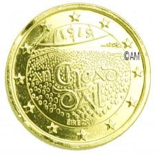 Irlande 2019 - 2 euro commémorative Dail Eireann dorée à l'or fin 24 carats