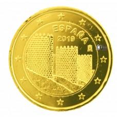 Espagne 2019 - 2 euro commémorative Avila dorée à l'or fin 24 carats