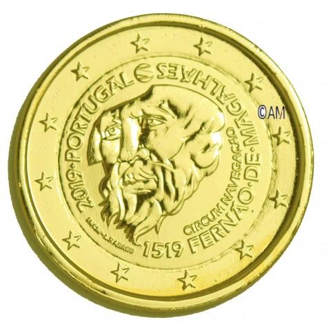 Portugal 2019 - 2 euro commémorative Magellan dorée à l'or fin 24 carats