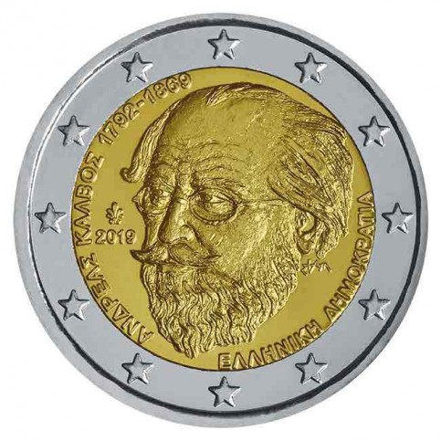 Grèce 2019 - 2 euro commémorative Andreas Kalvos