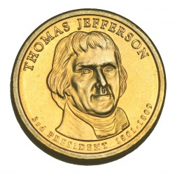 1 DOLLAR PRESIDENT  - Thomas JEFFERSON