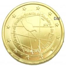 Portugal 2019 - 2 euro commémorative Madère dorée à l'or fin 24 carats