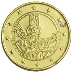 Estonie 2019 - 2 euro commémorative Festival dorée à l'or fin 24 carats