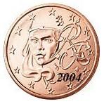France 1 Cent  2004