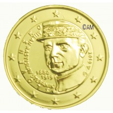Slovaquie 2019 - 2 euro commémorative Milan dorée à l'or fin 24 carats