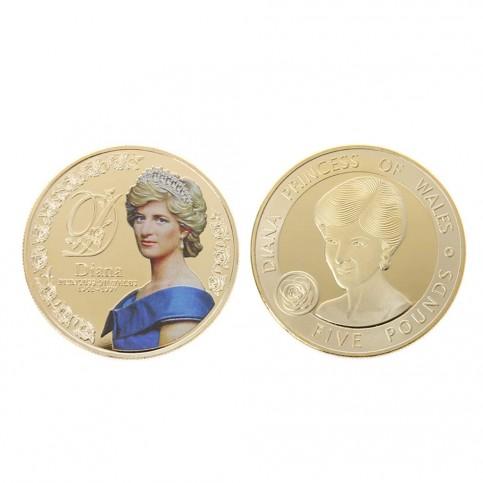 Médaille commémorative Lady Diana dorée