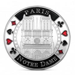 Frappe non monétaire commémorative Notre Dame de Paris argentée