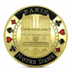Frappe non monétaire commémorative Notre Dame de Paris dorée