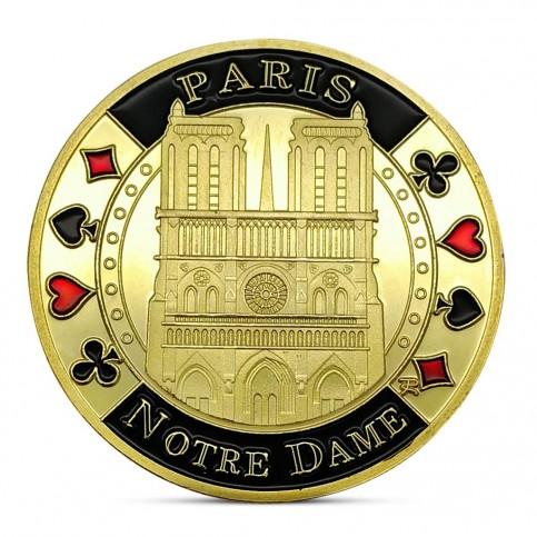 Médaille commémorative Notre Dame de Paris dorée