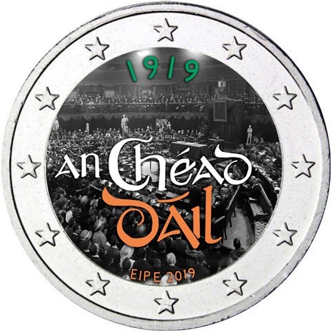 Irlande 2019 - 2 euro commémorative en couleur