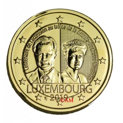 Luxembourg 2019 - 2 euro commémorative Charlotte dorée à l'or fin 24 carats