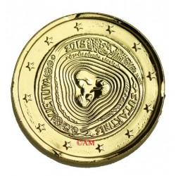 Lituanie 2019 - 2 euro commémorative Sutartinés dorée à l'or fin 24 carats