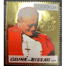 Timbre OR Jean Paul II - Guinée Bissau