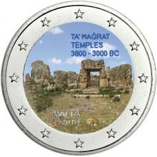 Malte 2019 Temple - 2 euro commémorative en couleur