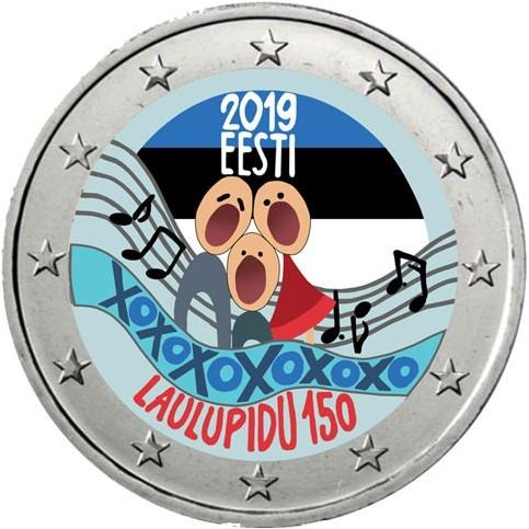 Estonie 2019 Festival - 2 euro commémorative en couleur
