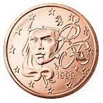 France 1 Cent  1999