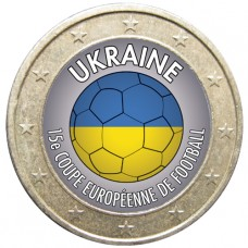 Football - 1 euro domé Ukraine