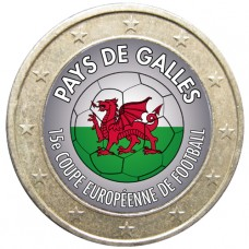 Football - 1 euro domé Pays de Galles