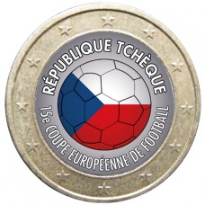 Football - 1 euro domé République Tchéque