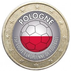Football - 1 euro domé Pologne
