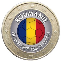 Football - 1 euro domé Roumanie