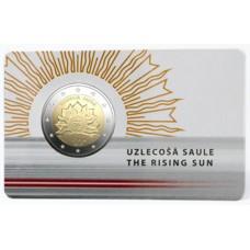 Lettonie 2019 - 2 euro commémorative Coincard Soleil Levant