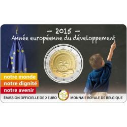 Belgique 2015 Coincard - 2 euros Développement