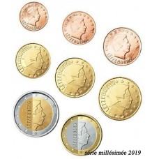 Luxembourg 2019 - série complète euro neuve