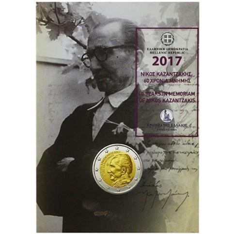 Grèce 2017 en coincard - 2 euro commémorative Kazantzakis