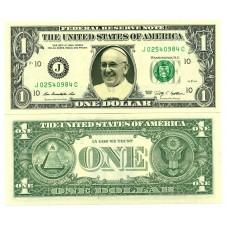 Billet de 1 dollar - Pape François
