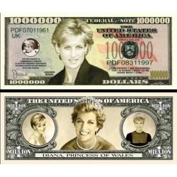 Billet commémoratif Lady Diana