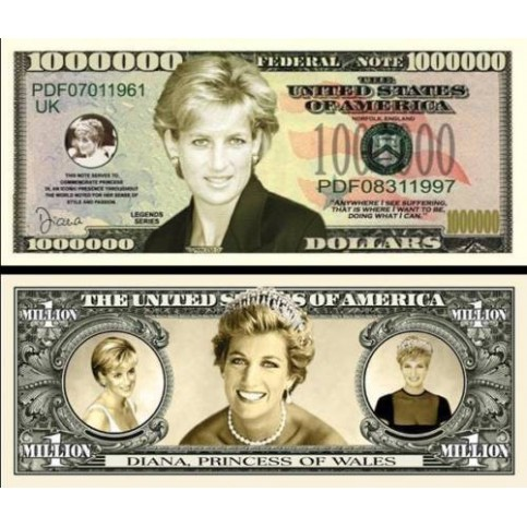 Billet commémoratif Lady Diana
