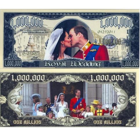 Billet commémoratif Mariage Royal
